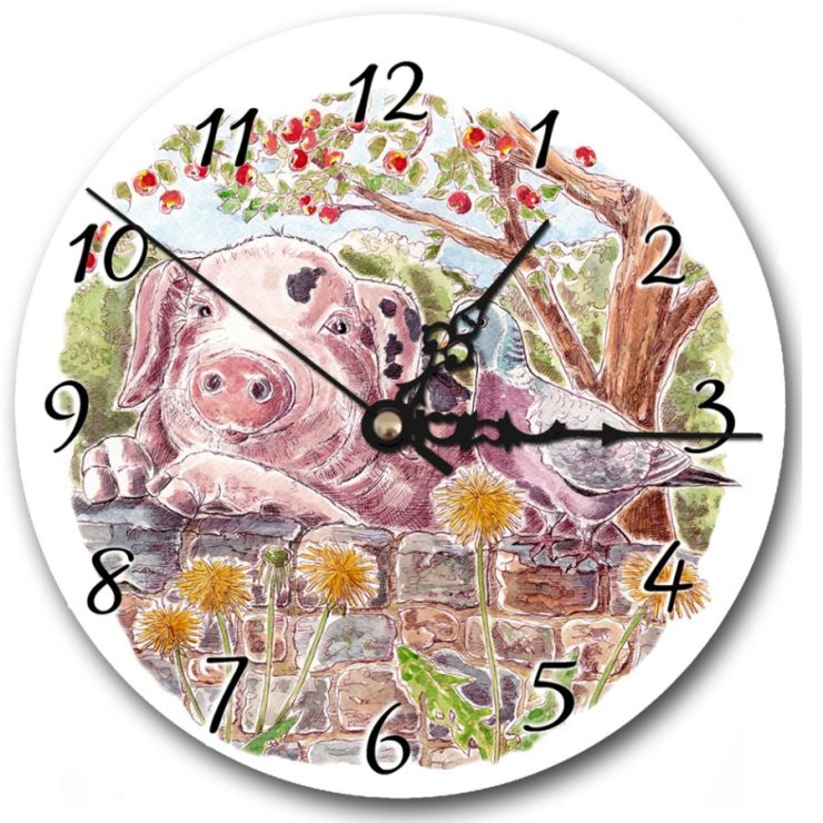 Pig and Pigeon clock