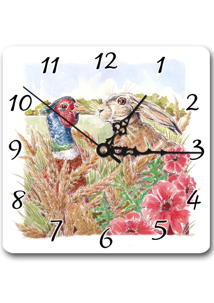 Pheasant and Hare Clock
