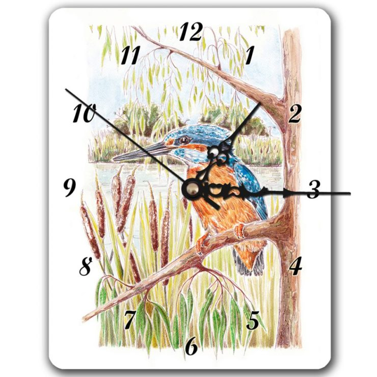 Kingfisher clock