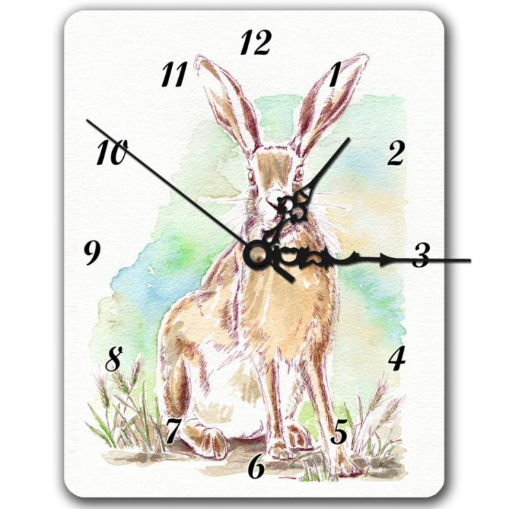 Norfolk Hare clock