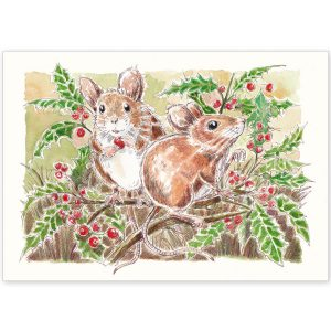 Field Mice and Holly