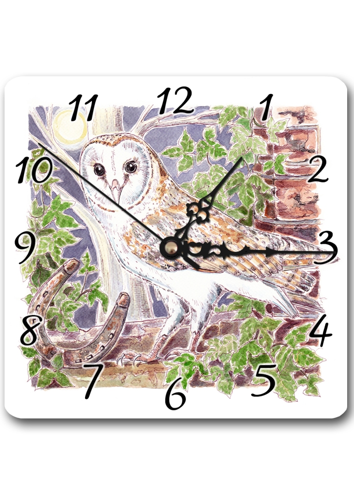 Norfolk Barn Owl Clock