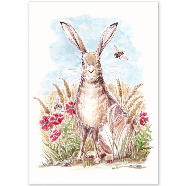 Hare and Bees - Card and Print