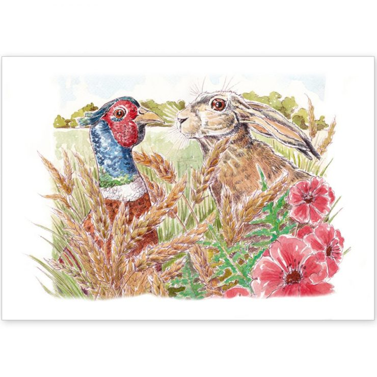 Hare and Pheasant - Card and Print