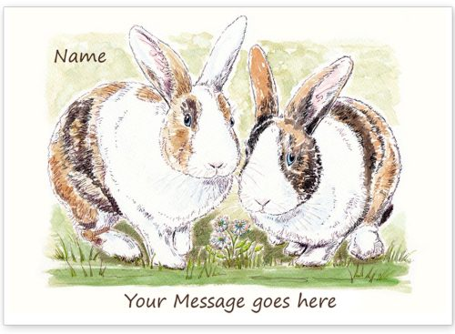 Rabbit brothers with message