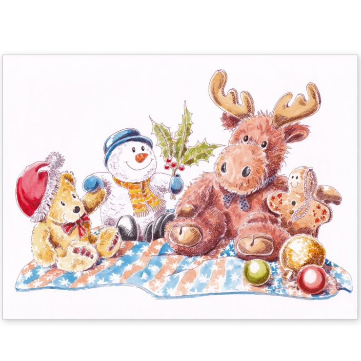 Christmas Moose and Friends