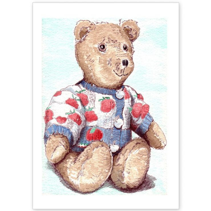 Woolie Bear - Card and Print