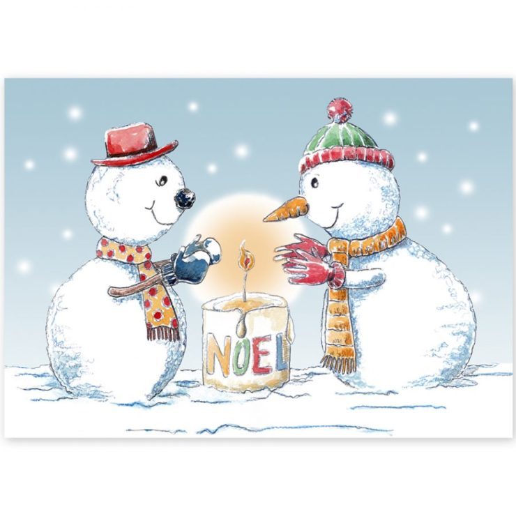 Jolly Snowmen Christmas Card