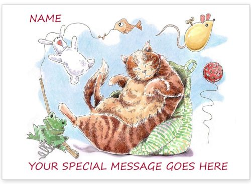Tabby with message