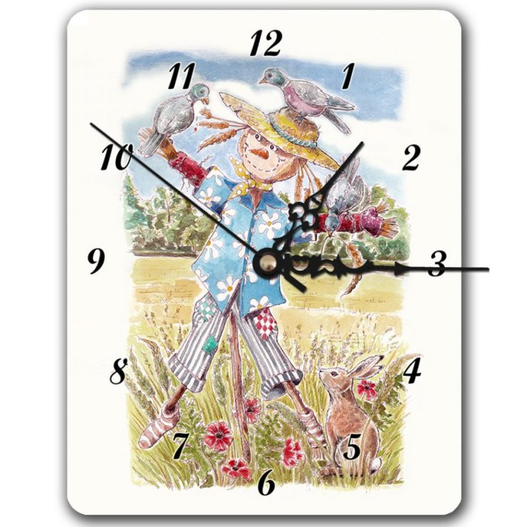 Scarecrow Hawaii clock